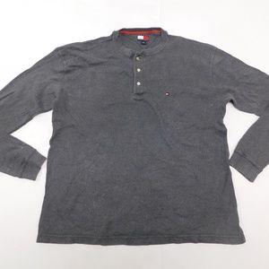 Tommy Hilfiger M Gray Henley Sweater  Cotton
